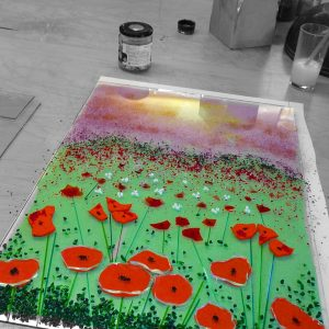 Fused glass wall panel class