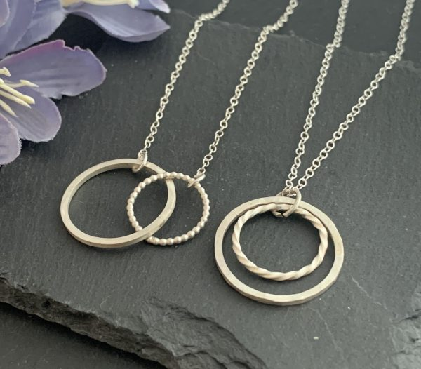 Halo and infinity necklace