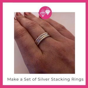 Silver stacking ring making in Basingstoke Hampshire