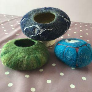 Wet Felt Bowls/Vessel