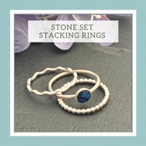 Stone set stacking rings workshop